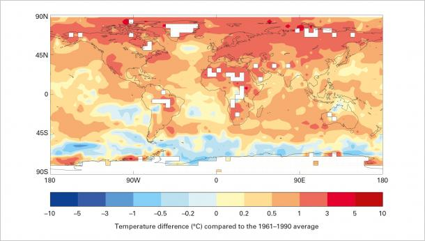 The global climate 2011-2015: hot and wild