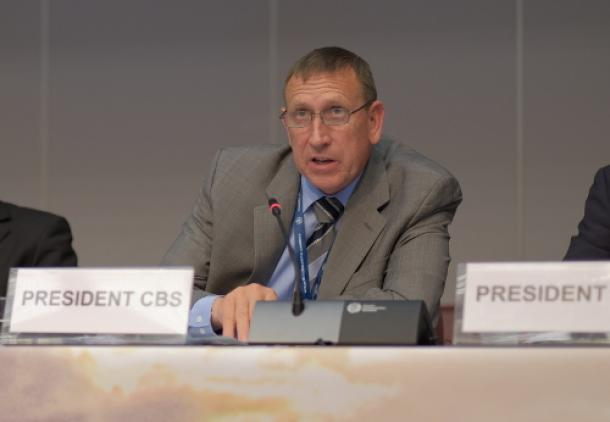 Technical Commissions / CBS President F Branski / Photo WMO-Braathen