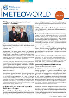 Online MeteoWorld No.3/September 2018