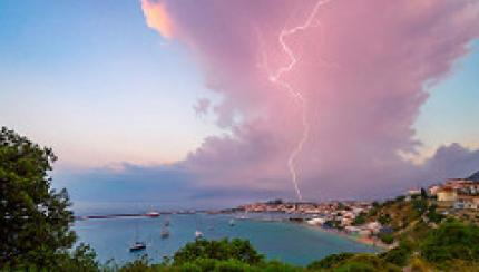 Isolated storm cell - WMO calendar June 18
