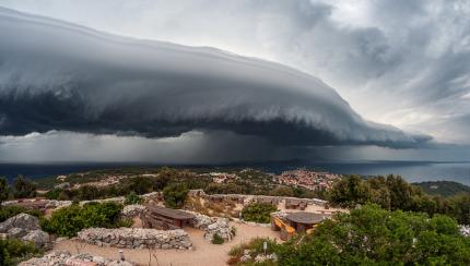 Cold front in summer - WMO calendar July 18 - Location: Mali Lošinj, Croatia / Europe Photographer - Sandro Puncet