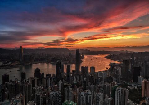 """""""Hong Kong Victoria Harbour sunrise"""" Photographer: Hon Ming Tse"""