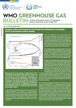 WMO Greenhouse Gas Bulletin