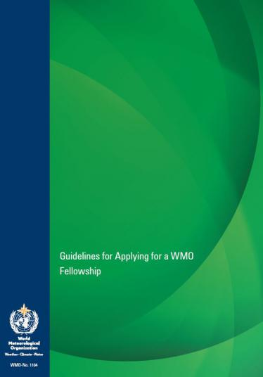 Guidelines for Applying for a WMO Fellowship (WMO-No. 1104)