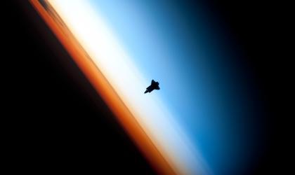 NASA Endeavour silhouette