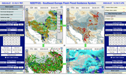 Southeast Europe Flash Flood Guidance System MapServer