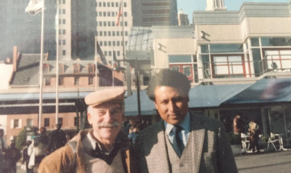 Mr Gerald Shak (L) and Dr Nayava (R) in New York, in 1987