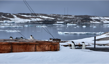 Photo caption (above): Antartica - abandoned Wilkins Base and Observing Station (courtesy Sue Barrell, Australia)
