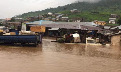 Storm in Kogi State, Nigeria, causes flooding. Photo Desmond Onilyo, Nigerian Meteorological Agency.