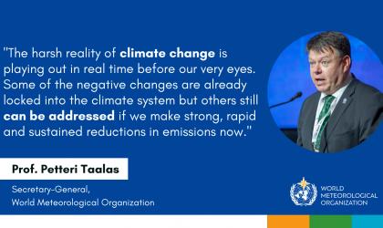 WMO Secretary-General statement at IPCC Climate Change report launch