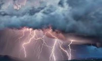 Lightning barrage Photographer: Šime Barešić Location: Drage, Vransko Lake, Croati