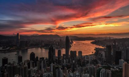 """Hong Kong Victoria Harbour sunrise"" Photographer: Hon Ming Tse"