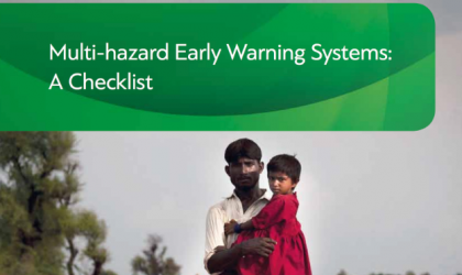 Multi-Hazard Early Warning Systems Checklist 2018