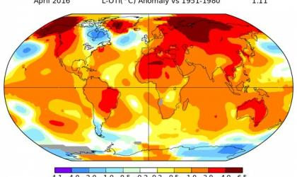 NASA: April global temperatures