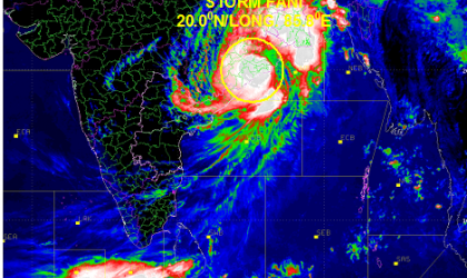 CycloneFani makes landfall in Odisha, India on 3 May