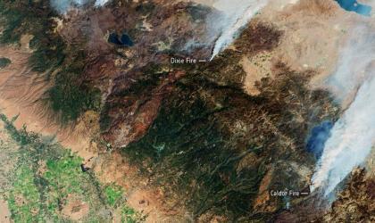 Wildfires in northern hemisphere summer 2021