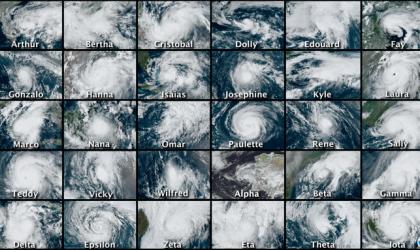 Atlantic hurricane season 2020: NOAA Satellites