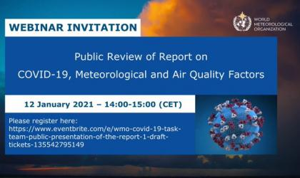 WMO hosts webinar on COVID19 and meteorological factors