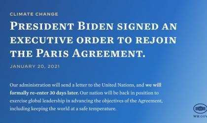 USA will rejoin Paris Agreement