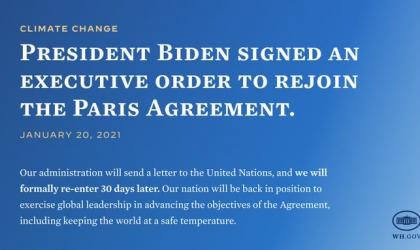USA will rejoin Paris Agreement