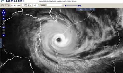 Tropical cyclone IDAI. EUMETSAT image