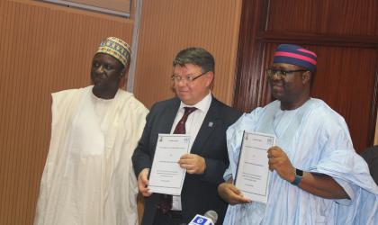 Signing ceremony 19 September 2019 of host country agreement with Nigeria