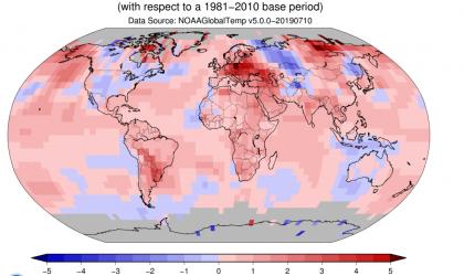June 2019 sets new global temperature record