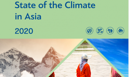 The State of the Climate in Asia 2020