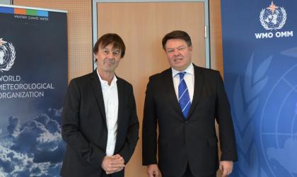 French Minister Hulot visits WMO 2017
