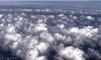 The cloud system of typhoon Nangka observed by the plane