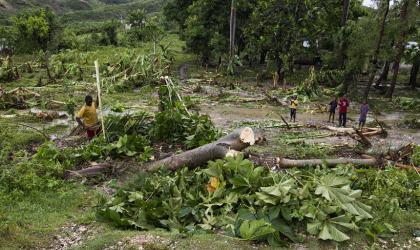 UN PHOTO/LOGAN ABASSI Hurricane Matthew in Haiti which caused over 600 deaths and US$2.7 billion of economic losses in Haiti in late 2016.