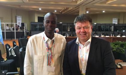 WMO Secretary-General Petteri Taalas meets Haiti President Jovenel Moïse