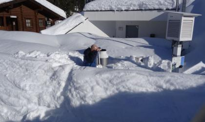 Heavy snow in Austria. Photo ZAMG