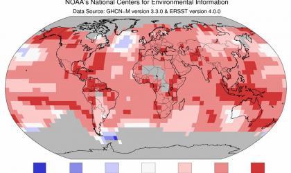 Global average Jan-November 2016 temperatures: NOAA