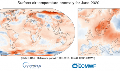 June 2020 global temperatures