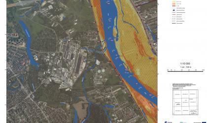 Flood on the maps - Poland