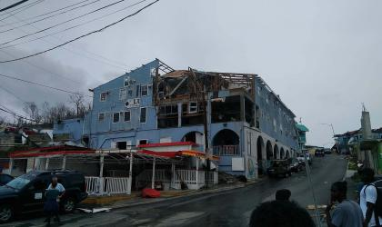 Hurricane Irma destruction on St. Thomas – Photo by Chris B. Pye
