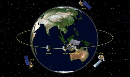 Layout of Fengyun meteorological satellites in 2020