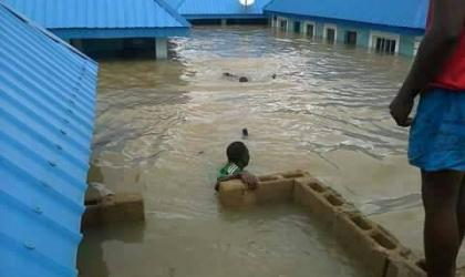 Floods in Nigeria, 27 Aug. Photo to Desmond Onyilo, Nigeria's meteorological agency NIMET