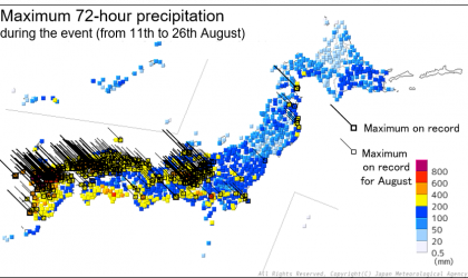 Climate characteristics and factors behind record-heavy rain in Japan in August 2021