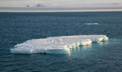 An iceberg floats in the Chukchi Sea in the Arctic Ocean. (Credit: NOAA)