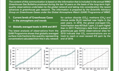 The State and the Variations of Greenhouse Gases in the Atmosphere