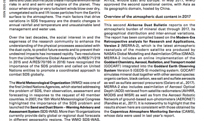 WMO Airborne Dust Bulletin - May 2018