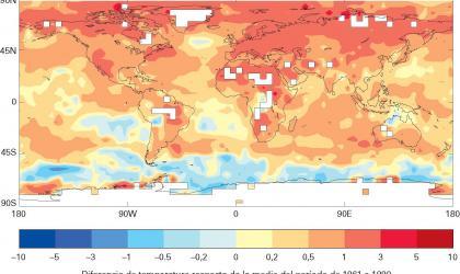 El estado del clima mundial en 2011-2015: cálido y errático