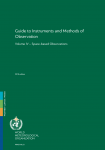 Guide to Instruments and Methods of Observation Volume IV – Space-based Observations