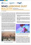 WMO Airborne Dust Bulletin - March 2017