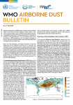 WMO Airborne Dust Bulletin - May 2018