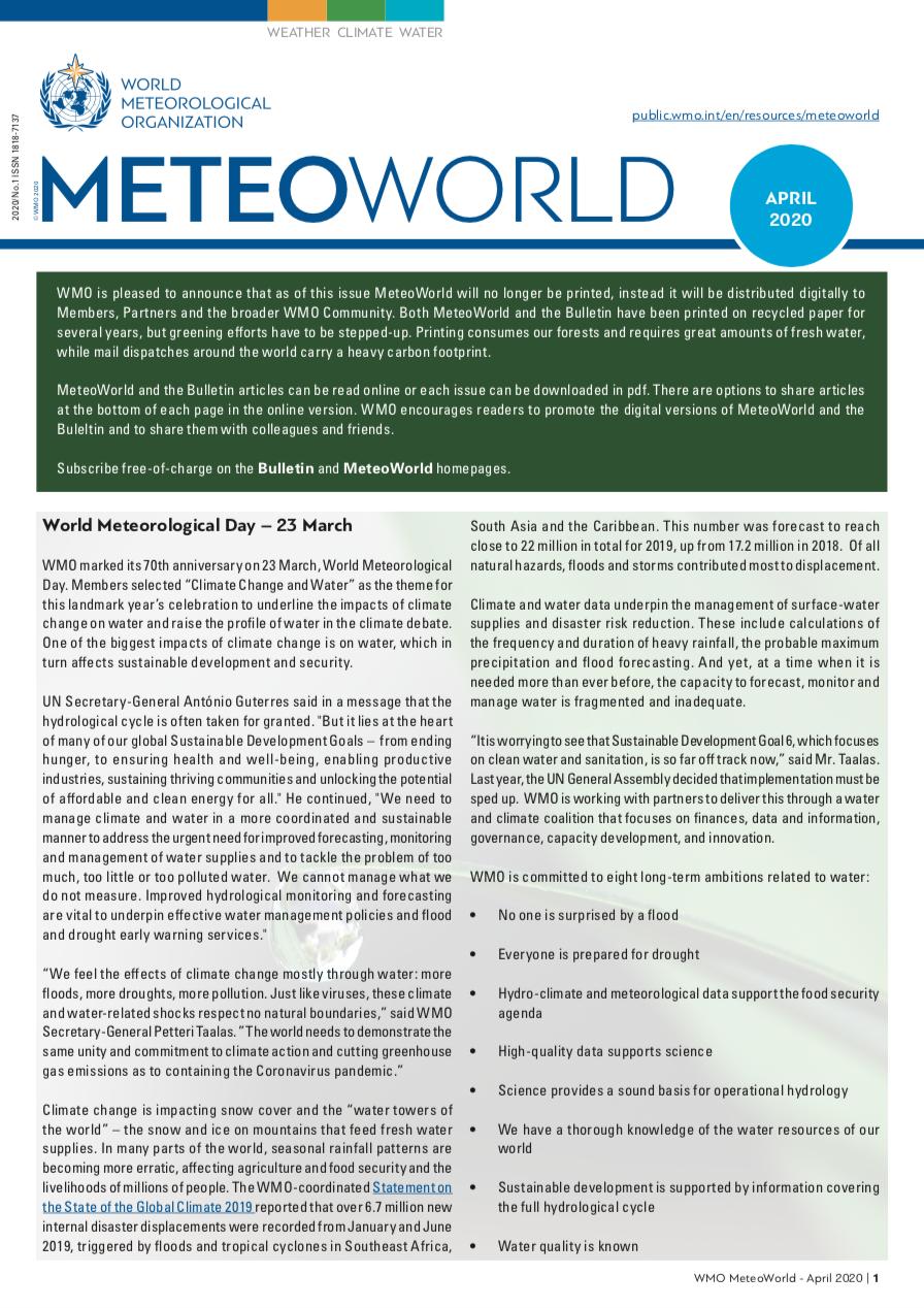 MeteoWorld No.1 April 2020