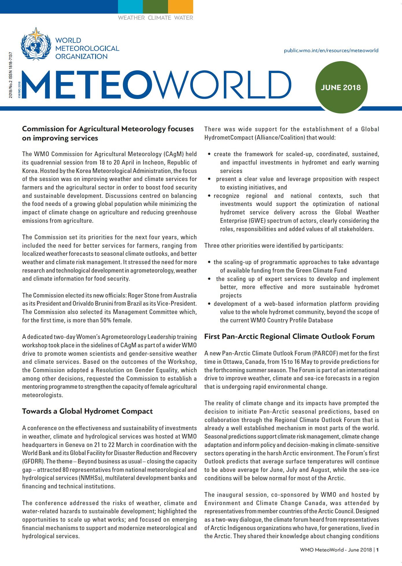 MeteoWorld June 2018 Cover
