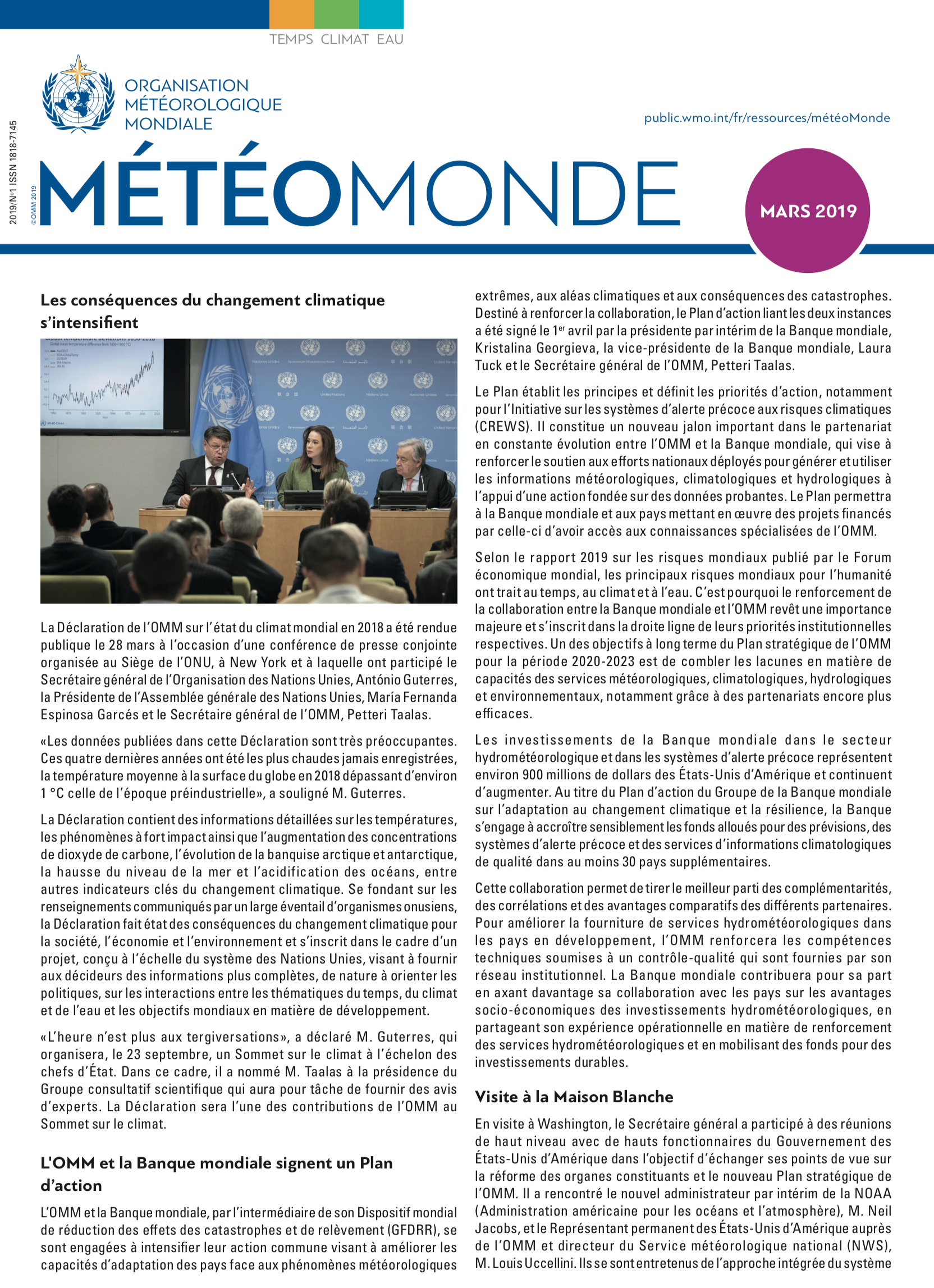 MétéoMonde No. 1 Mars 2019